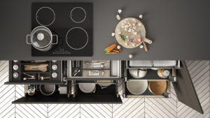 Divide your kitchen into different zones