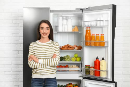 What is the average life of a side-by-side refrigerator