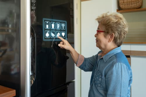 What are some futuristic refrigerator features