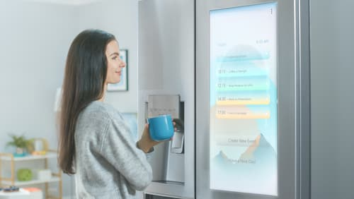 What are the features of a smart fridge